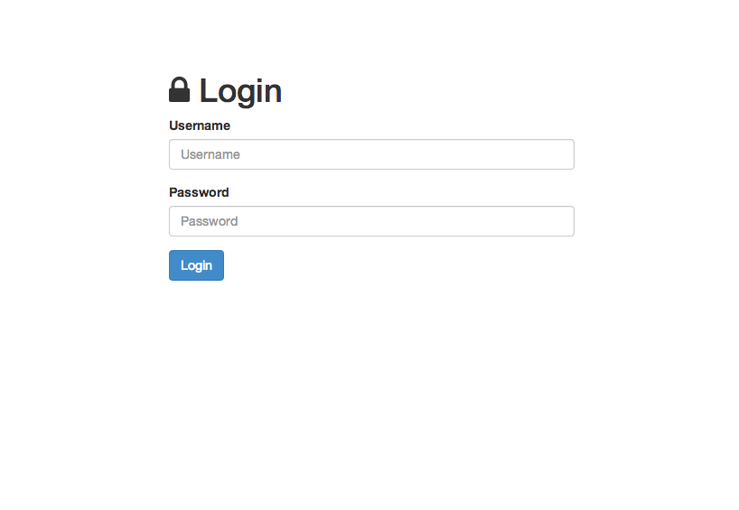 This is how the login page should look.
